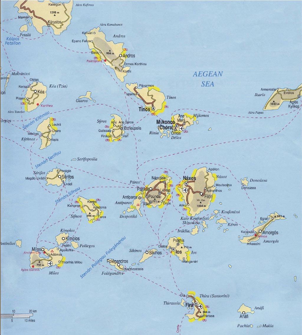 maps cyclades