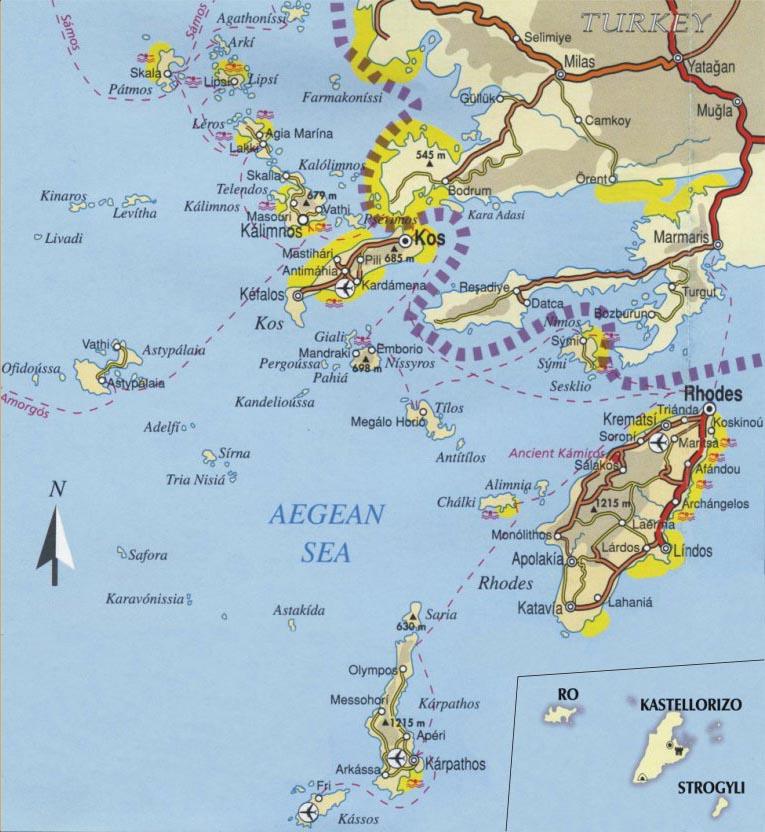 Dodekanisa Map